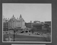 Ottawa, Ont. showing Connaught Square, Chateau Laurier and Union Station. (item 1)