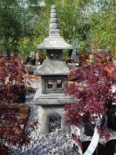Captivating Borderstone Four Piece Pagoda Oriental Garden Ornament