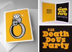 till Death Do Us Party - engagement party invitation