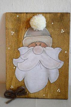 Hohoho..il quadretto di Babbo Natale! Fatto a mano. #christmastime #christmasgift #gliantichimestieri