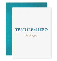 Teacher Equals Hero
