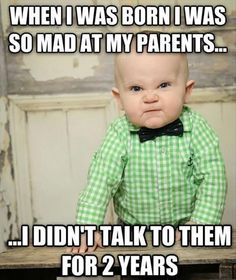 Get your laugh on to 27 Super Funny Baby Memes! Baby Memes, Funny Baby Jokes, Baby Quotes, Funny Babies, Funny Kids, Baby Humor, Quotes Quotes, Funny Baby Pictures, Funny Photos