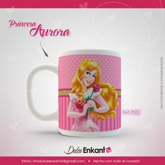 Taza / Mug Princesa Disney Aurora - Bella Durmiente Contactanos en facebook como /dulcenkanto