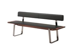 nox metal slides - comfortable bench for your dining room | TEAM 7