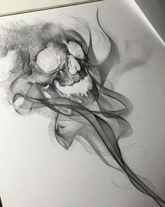 Skull Tattoos Back Ink Animal Skull Tattoos, Small Skull Tattoo, Skull Tattoo Flowers, Skull Tattoo Design, Tattoo Designs, Tattoo Sketches, Tattoo Drawings, Art Sketches, Skull Drawings
