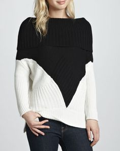 Super flattering for all body shapes! Colorblock Cashmere Off-the-Shoulder Sweater $374.00 FREE SHIPPING + FREE RETURNS