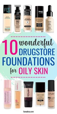 Finding the right foundation for your skin type can be tough, right? If you have oily skin, this post is for you! I'm sharing the best drugstore matte. Best Drugstore Matte Foundation, Foundation For Oily Skin, Oil Free Foundation, No Foundation Makeup, Top Foundations, How To Choose Foundation, Perfect Foundation, Drugstore Makeup Dupes, Beauty Dupes