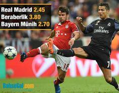 İlk maçta 10 kişi kalan #BayernMünih'i deplasmanda 2-1 yenen #RealMadrid evinde yarı final biletini almak istiyor.  Bahis seçenekleri ve oranlar 👉 https://www.bahsegel85.com/futbol/uluslararasi-kulupler,623