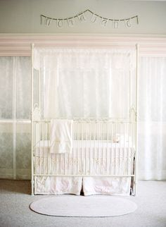 Shabby Chic Nursery + Get the Look  Read more - http://www.stylemepretty.com/living/2014/02/17/shabby-chic-nursery-get-the-look/