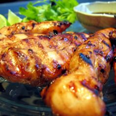 Easy Grilled Chicken Teriyaki  Chicken breasts marinated in teriyaki sauce, lemon, garlic, and sesame oil, then grilled to a tasty finish. Very easy and great for a hot summer's evening. Leftovers are great on a green salad or sandwich. Be sure to grill very hot and very fast!!   For more great recipes lots of fun, and amazing ideas; click and join our Facebook group ---> www.facebook.com/groups/getskinnywithus