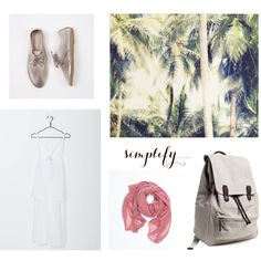 Simplify ft. Kowtow dress, Hobes shoes and Everlane backpack