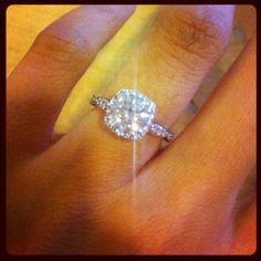 celebrity cushion cut engagement rings | New Tacori Cushion Halo