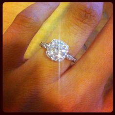 celebrity cushion cut engagement rings | New Tacori Cushion Halo