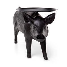 Pig Table in schwarz von Moooi