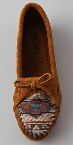 Minnetonka moccasins. I'm pretty sure I started the moccasin fad in high school. Just sayin'.