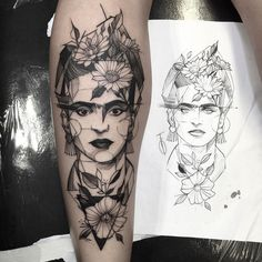 """Frida kahlo #electricink  @inkonik_tattoo_studio"""