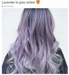Lavender to grey