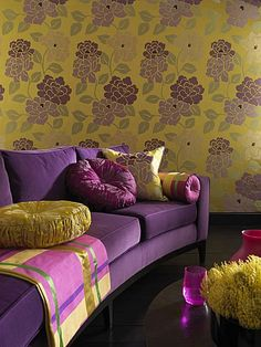 Purple Yellow Living Room Pink Shades Of Accents