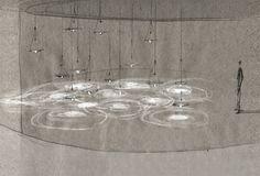 How did you know pintrest ? Interior Lighting, Lighting Design, Pendant Lamp, Pendant Lighting, Light Art, Light Bulb, Instalation Art, Water Lighting, Light Installation