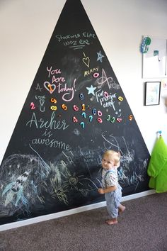 chalkboard-gaint-triangle-nursery-decor