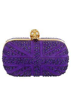 Lovely purple clutch