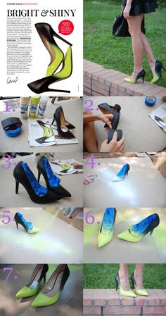 Glam for less: DIY Jimmy Choo Inspired Ombre Shoes -