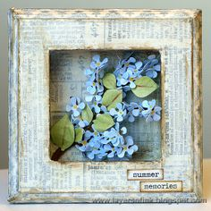 Layers of ink - Lilac Tree Shadow Box