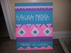 Visit my etsy shop! hakuna matata bright tribal canvas
