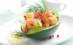 Avocat, concombre et saumon fumé - WeCook
