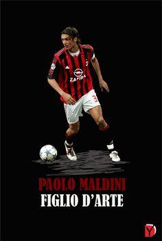 Fan Art: Paolo Maldini (AC Milan) #Football #Legend