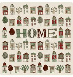 Small homes vector on VectorStock®