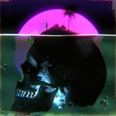 "psstzine: ""Environment"" by kidmograph for Psstzine x Espolon Tequila Acid Art, Neon Aesthetic, Badass Aesthetic, Aesthetic Movies, Skull And Bones, Live Wallpapers, Vaporwave, Motion Design, Dark Art"