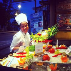 Freshly seafood serve daily