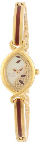 Titan Womens 2251YM24 Raga Jewelry Inspired GoldTone Watch -- Check out the image by visiting the link.