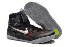 NBA Lakers Kobe Bryant Black Silver Color Women Size Kobe 9 Training Sneakers