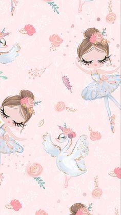 ideas baby girl wallpaper pattern for 2019 Baby Girl Wallpaper, Ballet Wallpaper, Pastel Wallpaper, Cute Wallpaper Backgrounds, Cute Wallpapers, Iphone Wallpaper, Cute Wallpaper For Girls, Bedroom Wallpaper, Desktop Wallpapers