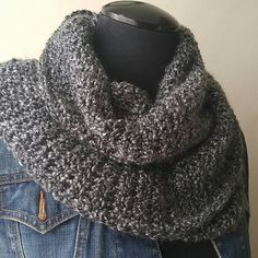❄❄Warm & CozyTwisted Handmade cowl Once you touch it, you won't want to taken it off. Super soft, yet bulky enough to keep you warm. Marbled charcoal grey coloring, 60 inches in length.Wonderful unique gift for any loved one or a great treat just for you. Tagged and ready to go. CUSTOM ORDERS ARE WELCOMED. Accessories Scarves & Wraps
