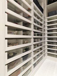 Glass drawer shoe storage solution