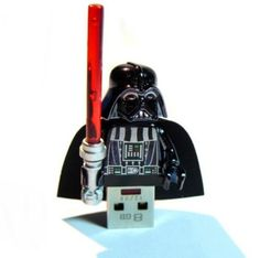 Darth Vader USB - Hopefully the light saber lights up when plugged in #tech