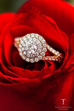 Let your love blossom with a yellow gold diamond engagement ring from Tolkowsky.