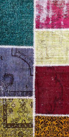 Vintage Patchwork Teppich - mozaiik Unikat Nr. 131TP Carpets, Kids Rugs, Design, Home Decor, Scrappy Quilts, Vibrant Colors, Vintage Rugs, Handarbeit, Farmhouse Rugs