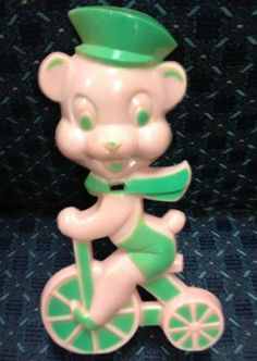 Vintage E Rosen Rosbro Plastic Bear Candy Sucker Holder 1950's Cute | eBay