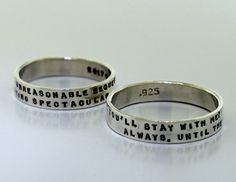 Two Line Posey Ring  sterling silver band by KathrynRiechert, $38.00