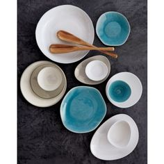 Love the organic shapes and the colors.  naxos dinnerware in dinnerware | CB2
