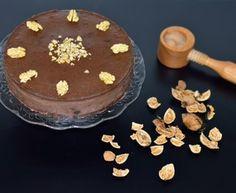 De luxe pečený čokoládový cheesecake s mladými orechmi