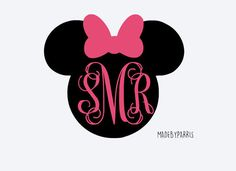 Minnie Monogram Vinyl Decal Monogram Decal Disney by MadeByParris