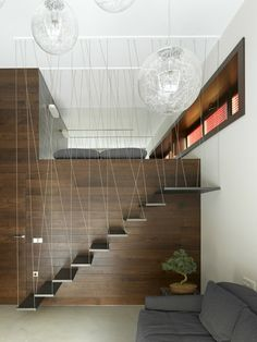 Invisible Doors Turn a Home into an Artistic Feat of Design Decor Interior Design, Interior Decorating, Invisible Doors, Industrial Office Design, Concrete Stairs, Modern Stairs, Tiny Apartments, Staircase Design, Home Decor Inspiration