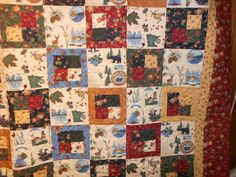 Queen Size Bed Quilt  Double spread  48 by pamscrafts7631 on Etsy
