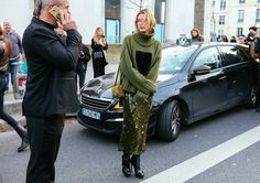 Hailey Baldwin in army green by Phil Oh for Vogue // MISS IDA B