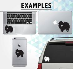 Pomeranian w/ Heart Vinyl Decal Sticker ***If you would like a custom size please send us a message and well work with you!***  Available Colors: - White Glossy - Black Glossy - Black Matte - Gray Glossy - Silver Glossy - Gold Glossy - Orange Glossy - Yellow Glossy - Green Glossy - Forest Green Glossy - Light Blue Glossy - Blue Glossy - Pink Glossy - Soft Pink Glossy - Red Glossy - Teal Glossy (NEW) - Matte White (NEW) - Violet Glossy (NEW)  The Decal: All of our stickers are one color…